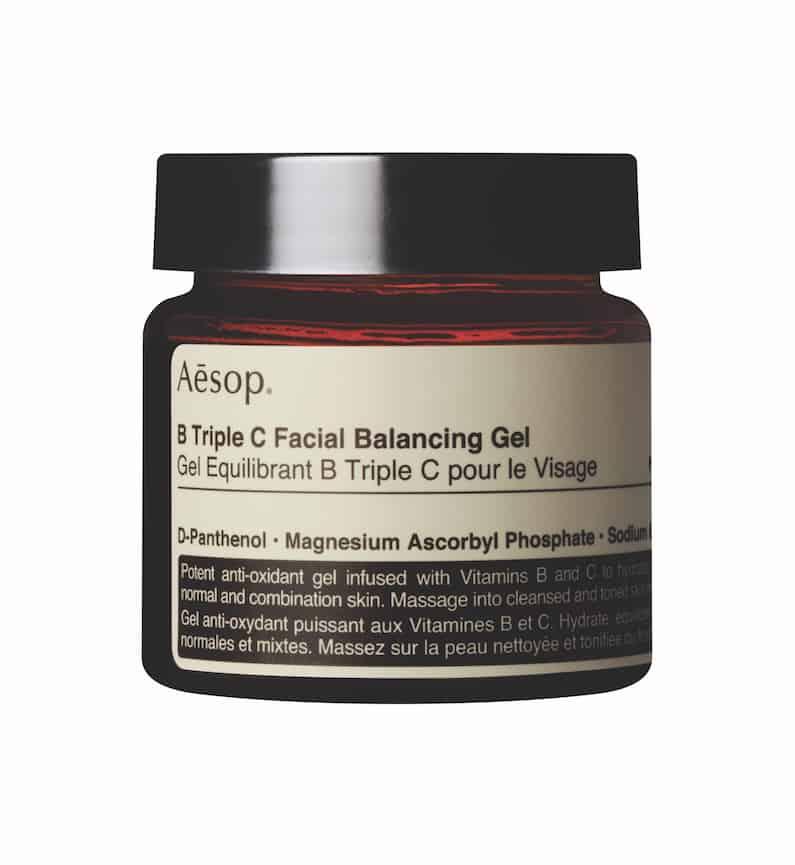B Triple C Facial Balancing Gel di Aesop, formula perfetta per nutrire e proteggere la pelle