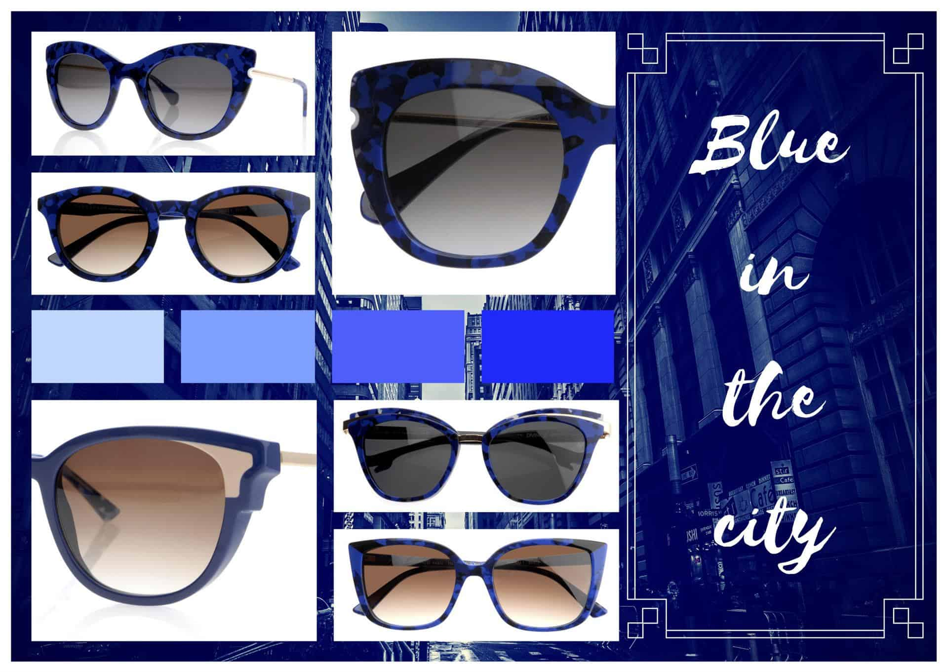 eyewear Face à Face, dove il blu domina incontrastato nelle sue più moderne versioni!