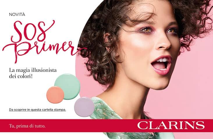 Rivela la tua bellezza con il colore, grazie ai nuovi SOS Primer di Clarins!
